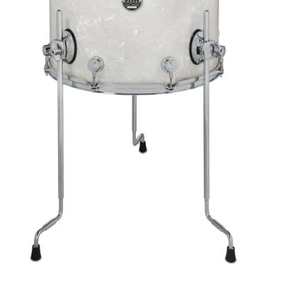 DW Performance Floor Tom Drum 16x16 White Marine Pearl w Legs DRPF1616LTWM