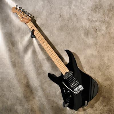 Charvel Left Handed Pro Mod DK24 HH Caramelized Maple 2021 Gloss Black Lefty Guitar