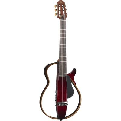 Yamaha SLG200N Silent Acoustic-Electric Guitar - Crimson Red Burst for sale