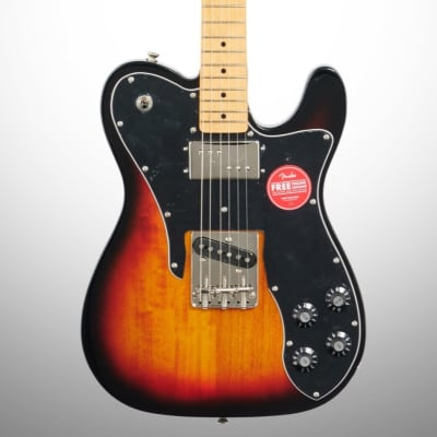 Squier Classic Vibe '70s Telecaster Custom Electric Guitar, with Maple Fingerboard, 3-Color Sunburst