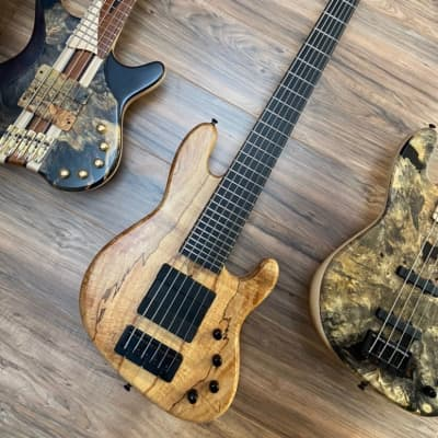 MGbass JB-1 Rustic Spalted Maple 2020 Natural/Satin