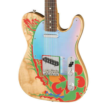 Fender Jimmy Page Signature Telecaster in Natural with Custom Graphic