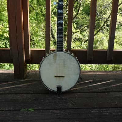 Wildwood Heirloom Open Back Banjo Tubaphone Tone ring Flamed Maple neck Engraved Inlays Old Time for sale