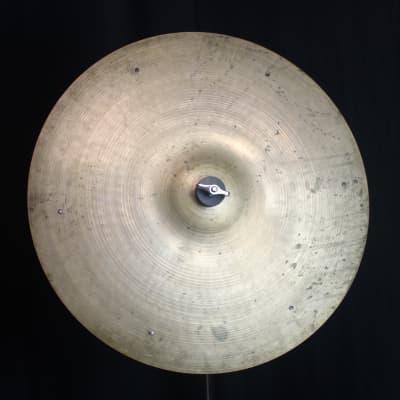"""A. Zildjian 18"""" Small Stamp Ride Cymbal 1957 - 1960"""