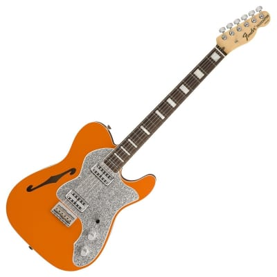Fender Limited Edition Parallel Universe Series Deluxe Thinline Super Telecaster Orange 2018