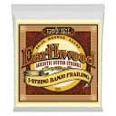 Ernie Ball Earthwood 5-String Banjo Frailing Loop End 80/20 Bronze Acoustic Guitar Strings - 10-24 Gauge 2061