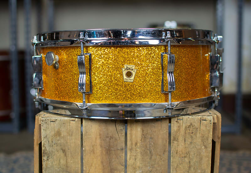 1960s ludwig 5x14 gold sparkle jazz festival snare drum reverb. Black Bedroom Furniture Sets. Home Design Ideas