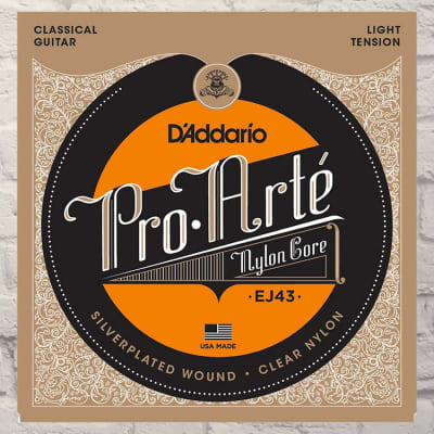D'Addario EJ43 Light Tension Nylon Pro-Arte Classical Guitar Strings 02-42