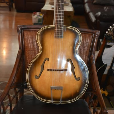 Harmony H1213 archtop 1950s to 70s brown sunburst for sale