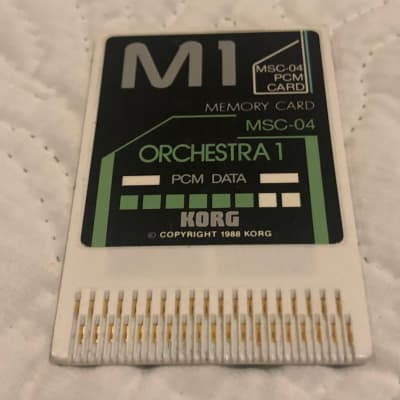 Korg MSC-04 PCM Data Orchestra Card for M1
