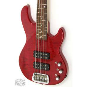 G&L Tribute Series M-2500 5-String Bass Cherry Burst w/ Rosewood Fretboard