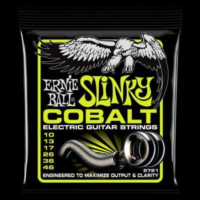 Ernie Ball 2721 Regular Slinky Cobalt Electric Guitar Strings 10-46