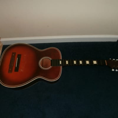 Vintage 1960's Barclay (Harmony) H1143 Acoustic Guitar Project! for sale