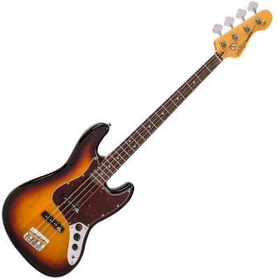Vintage Bass VJ74SSB Pearloid Dots, SS, Sunburst