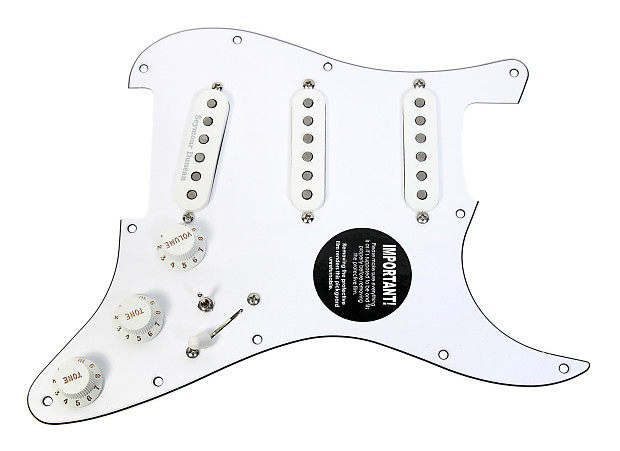920d custom loaded strat pickguard duncan fender ssl