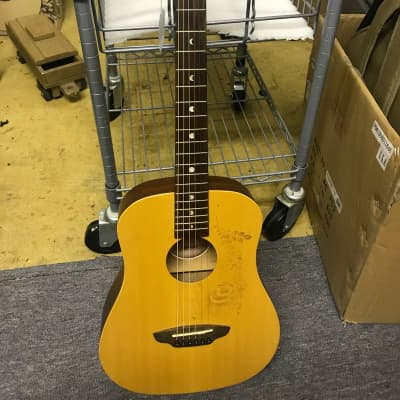 Luna Aurora Borealis 3/4 Size Acoustic Guitar White Sparkle