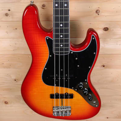Fender Limited Edition Rarities Flame Ash Top Jazz Bass 2019 - Ebony Fingerboard, Plasma Red burst for sale