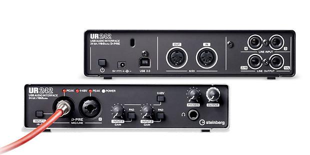 steinberg ur242 high resolution usb ios audio interface reverb. Black Bedroom Furniture Sets. Home Design Ideas