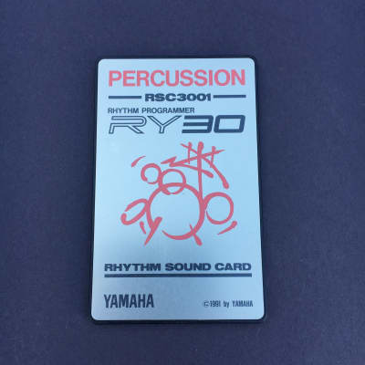 Yamaha RY30 Sound Card RSC3001 Percussion 1991