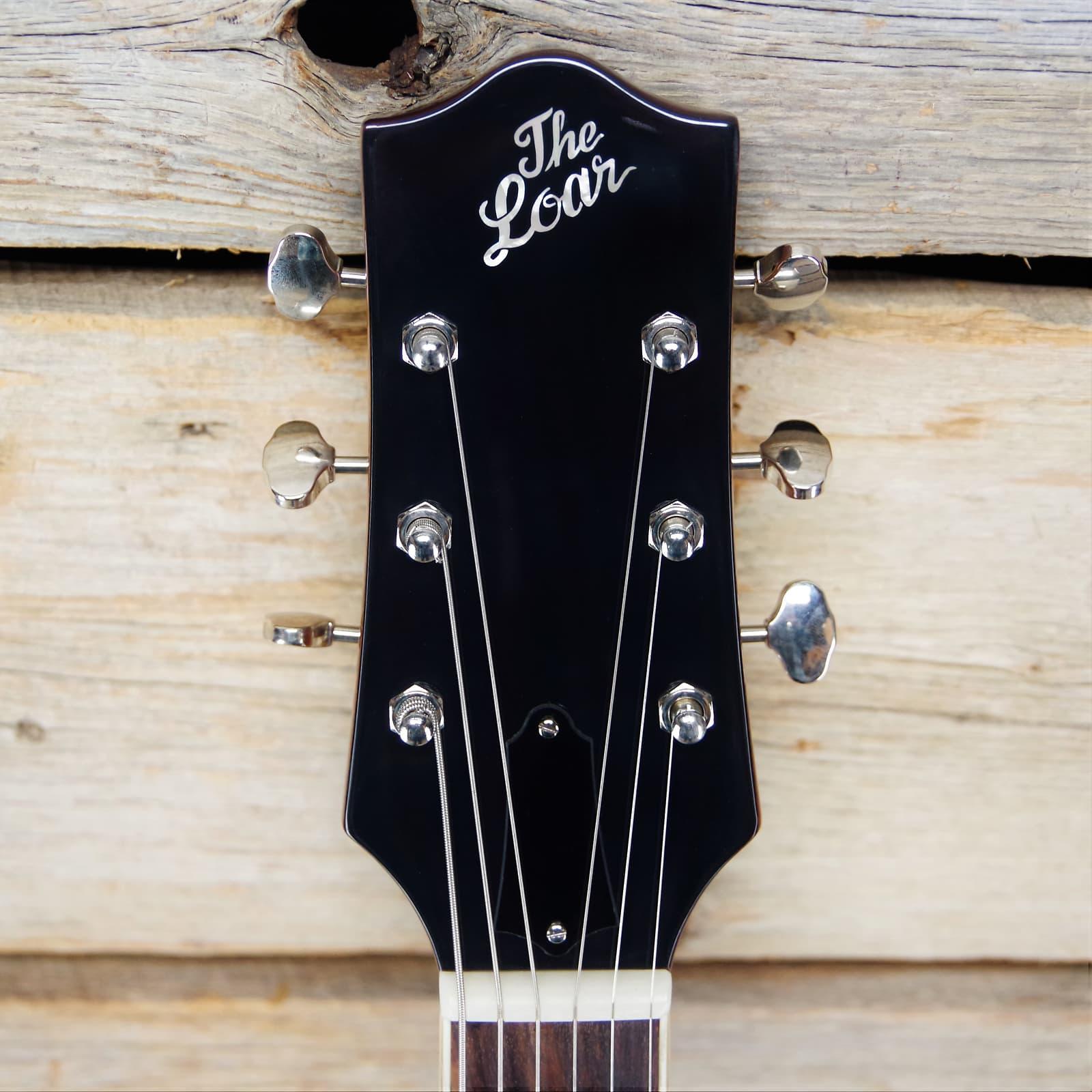 The Loar LH-280 Hollowbody Archtop Electric Guitar, Vintage Sunburst