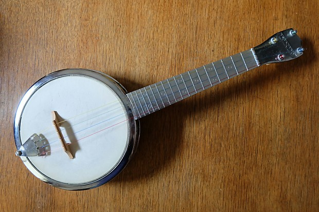 Dixie Banjo Ukulele Banjolele 1950 S Chrome Reverb