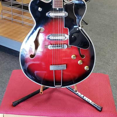 Recco Semi Hollow Guitar circa 1968  Red Burst for sale