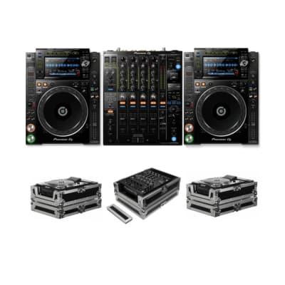 PIONEER DJ CDJ-2000 NXS2 + DJM-900 NXS2 + FZCDJ & FZ12MIXXD CASES BUNDLE DEAL