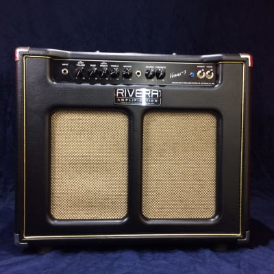 Rivera Venus 3 1x12 Valve Guitar Combo fitted with G12H/30 Black/Gold for sale