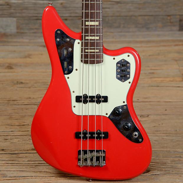 fender jaguar bass hot rod red reverb. Black Bedroom Furniture Sets. Home Design Ideas