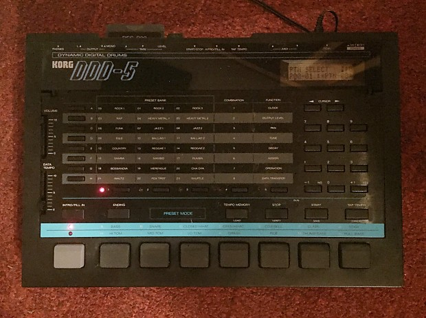 Korg DDD-5 Vintage Drum Machine w/ Jazz ROM Card and Jazz Library Presets