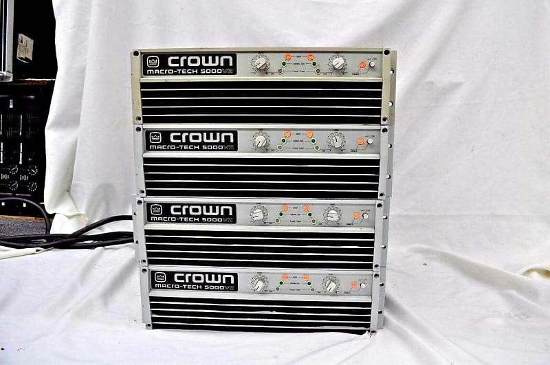 crown macro tech ma5000vz power amplifier one reverb. Black Bedroom Furniture Sets. Home Design Ideas