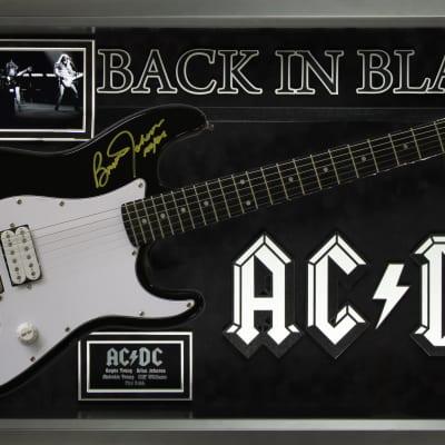 7dcaa9c980302 AC DC Signed Guitar - Back in Black Custom Framed