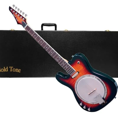 Gold Tone ES-Banjitar/L Electric Solid Body Hard Rock Maple Neck 6-String Banjo w/Hard Case - Lefty