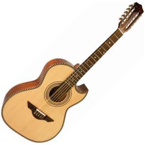 Hohner H Jimenez Bajo Quinto LBQ1E Acoustic-Electric Guitar Natural for sale
