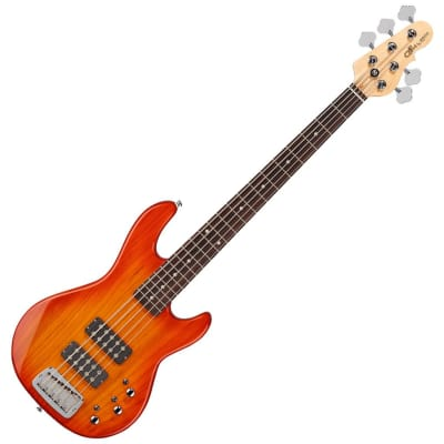 G&L Tribute Series L-2500 5 String Bass Guitar - Honeyburst for sale