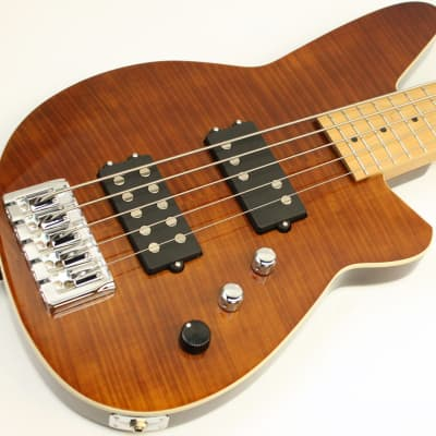 Reverend Mercalli 5 FM 5-String Bass, Violin Brown Flame Maple, NEW! #45233-2 for sale