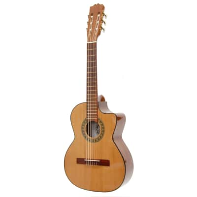 New Paracho Elite GONZALES 6-String Classical Requinto Acoustic Guitar with Solid Cedar Top, Natural for sale
