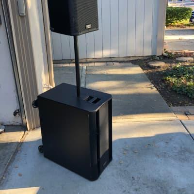 Pair of QSC K12/KSub Powered Speakers w/ Accessories