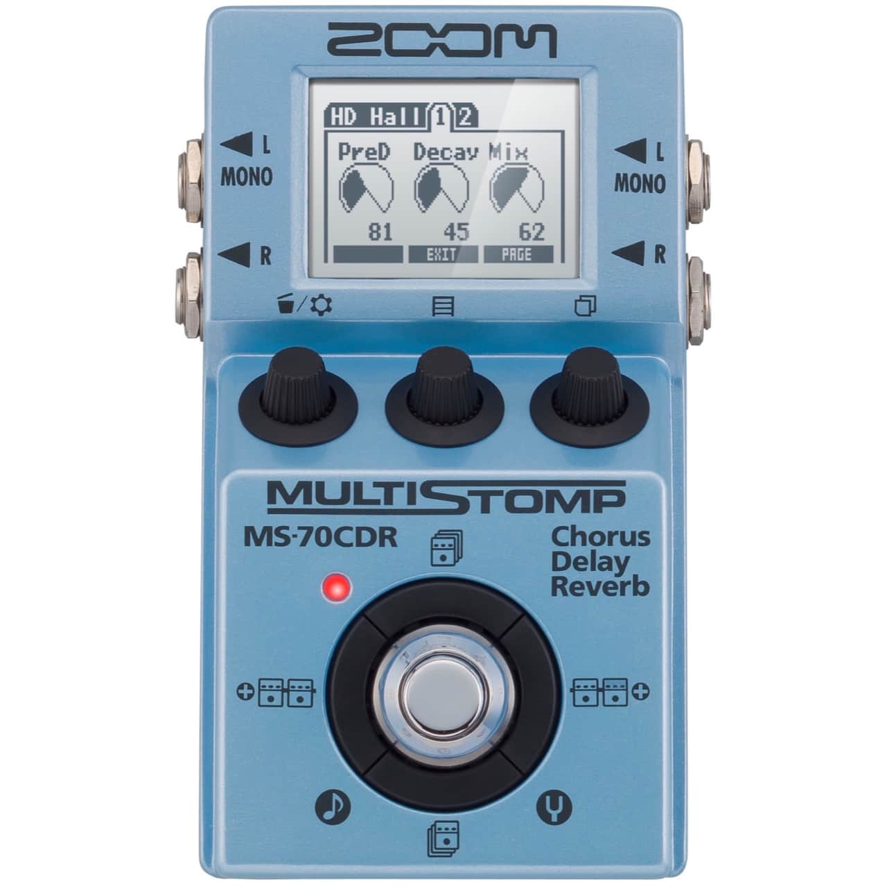 zoom ms 70cdr multistomp guitar multi effects pedal zzounds reverb. Black Bedroom Furniture Sets. Home Design Ideas