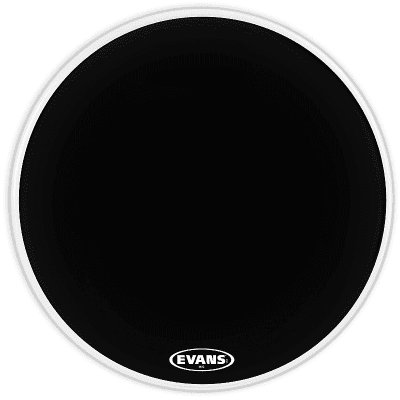 "Evans BD28MX2B MX2 Black Marching Bass Drum Head - 28"""