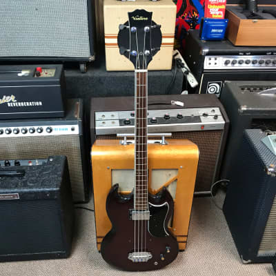 Ventura EB Style Bass Guitar 1970s Cherry for sale