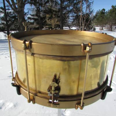 ENGRAVED MAY 30TH,1876 BRASS SNARE DRUM 1876 24k Gold-Plated