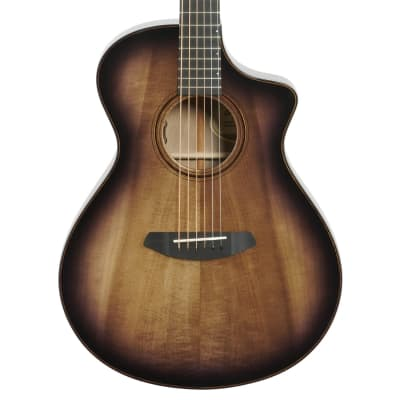 Breedlove Limited Edition USA Oregon Concert CE Acoustic-Electric Guitar (with Case), Raven Burst
