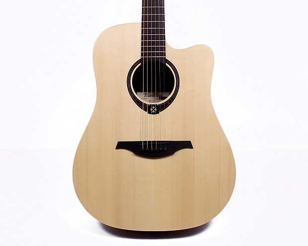 Musical Instruments & Gear Guitars & Basses Lag T270dce Dreadnought Cutaway Acoustic Electric Guitar In Natural Finish