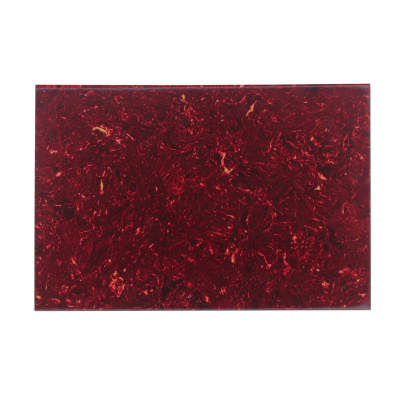FLEOR 1PCS 4Ply PVC&Celluloid Blank Pickguard Material Sheet Red Tortoise 16.9x11.4x0.09 in