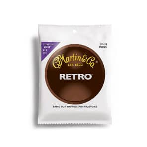 Martin MM11 Retro Acoustic Guitar Strings 0.011 - 0.052