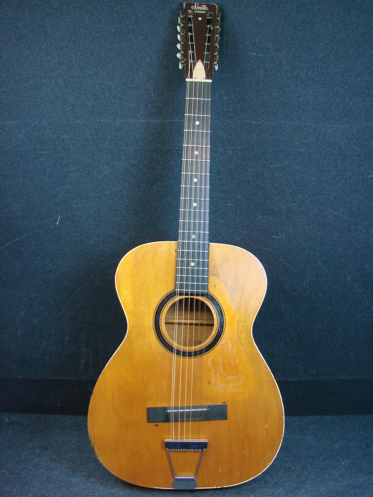 Vintage Stella Harmony H913 12 String Acoustic Guitar W