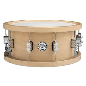 PDP PDSN5514NAWH 5.5x14 20-Ply Maple Snare Drum w/ Wood Hoops