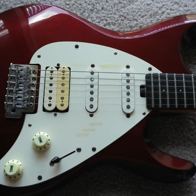 OLP MM 4 Red Sparkle Guitar with Fender Bridge for sale