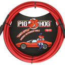 "Lifetime Warranty! Pig Hog PCH10CA Candy Apple Red 1/4"" / 1/4"" Rt Angle Instrument Cable - 10'"